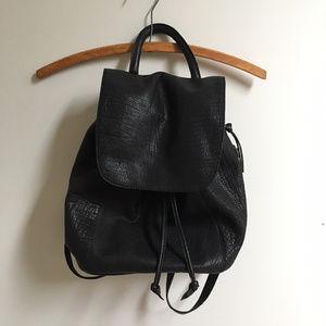 213a67428e9 Silence + Noise pebbled leather mini backpack